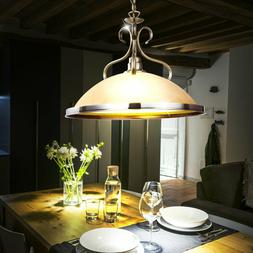 Lustre ancien suspension luminaire plafond éclairage verre