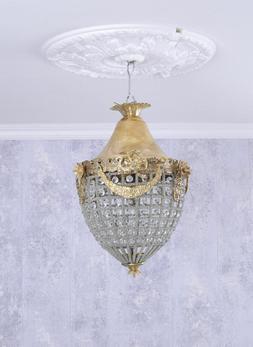 Lustre Antique Plafonnier Lustre en Cristal Lustre Lampe à