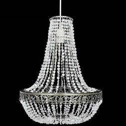 Lustre Suspendu en Cristal Plafonnier Lampe Suspension Lumin
