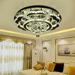Lustre suspension couloir luminaire plafond à LED en crista