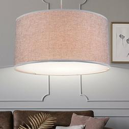 Lustre suspension éclairage tissu salle de séjour éclaira