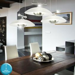 Lustre suspension lampe luminaire éclairage nickel mat verr