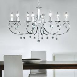 Lustre verre cristal suspension lampe salon plafonnier lumin