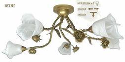 Neuf Plafonnier Suspension 5 à Flammes Haut Luminaire Lampe