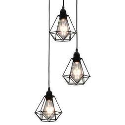 vidaXL Plafonnier 3 Ampoules Lampe Suspendue Luminaire Eclai