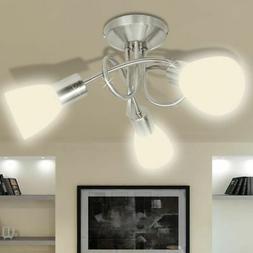 plafonnier abat jour verre 3 ampoules luminaire