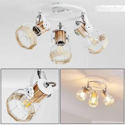 Plafonnier blanc Lampe à suspension 3 branches Luminaire Lu