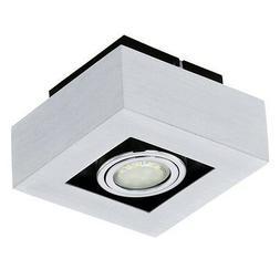 Plafonnier Design Carré Aluminium/Acier Lustre Lampe suspen