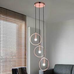 Plafonnier LED Luminaire suspendu en or rose Salon Lampe des