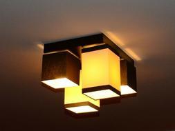 Plafonnier Suspension Luminaire Lampe Haut 4 Flammes Éléga