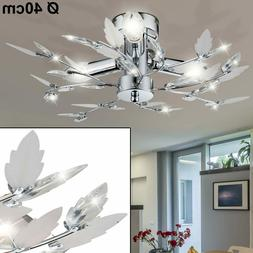Plafonnier Suspension Luminaire Lampe Salon Feuilles Décor