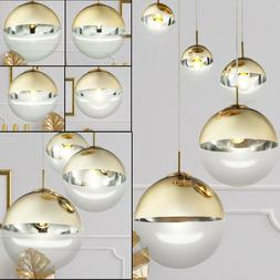 Plafonnier Suspension Suspension Luminaire Glass GOLD Lighti