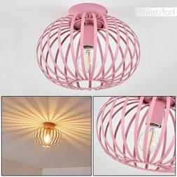 Plafonnier Vintage Lampe à suspension rose Lustre Lampe de