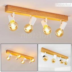 Plafonnier Vintage Lustre Lampe à suspension Bois Lampe de