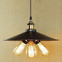 Rétro Lampe Suspendue Plafonnier Luminaire E27 Métal Vinta