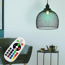 RGB LED Cage Pendulum Plafonnier TÉLÉCOMMANDE Suspension L