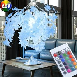RGB LED Feuilles Luminaire de Plafond la Vie Chambre Téléc