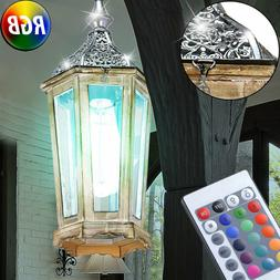 RGB LED Lanternes Luminaire Suspendu Vintage Argent Lampe In
