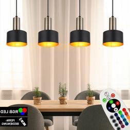 RGB LED Luminaire Suspendu Dimmable Noir-Or Couvrir Spot Lam