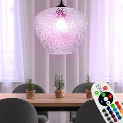 RGB LED Luminaire Suspendu Dimmable Verre Structure de Plafo