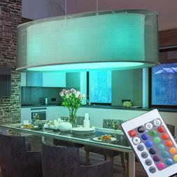 RGB LED Luminaire Suspendu Tissu Plafonnier Télécommande C
