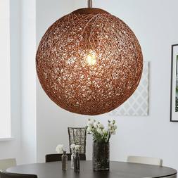 Rotin boule suspension luminaire salon éclairage en osier p