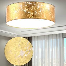 Suspendu Lampe Tissu Abat-Jour Luminaire Suspendu Or Salon C