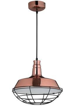 Suspendu Luminaire Copper Métal de Couleur Cuivre Industrie