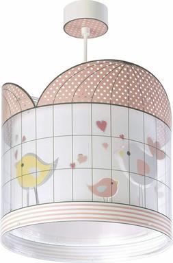 Dalber suspension enfant Little Birds oiseaux rose