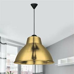 Suspension industrielle luminaire LED doré en métal Cloche