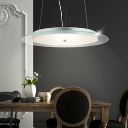 Suspension LED 30 W luminaire plafond cristaux verre chrome