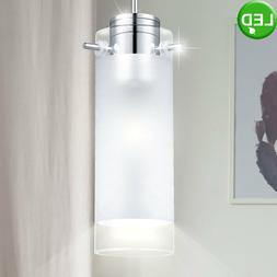 Suspension LED luminaire plafond lustre lampe DEL verre acie