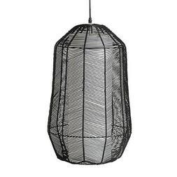 Suspension, luminaire Amadeus en rotin noir 58x37cm