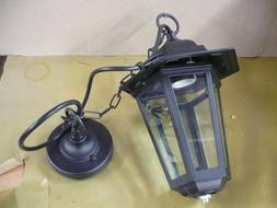 suspension luminaire extérieur  rustique noir  220 v 60 w l