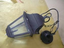 suspension luminaire extérieur  rustique noir  220 v 60 w