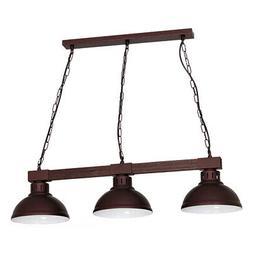 Suspension Luminaire Métal Vintage Braun Bois Véritable La