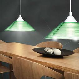 Suspension luminaire plafond lampe éclairage verre vert ray