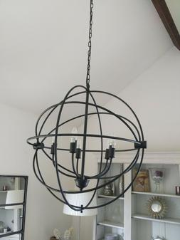Suspension lustre luminaire lampe plafonnier spherique circu