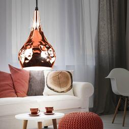 Suspension lustre luminaire plafond éclairage or rose cuisi