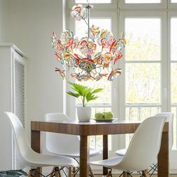 Suspension lustre luminaire plafond fleurs éclairage salle