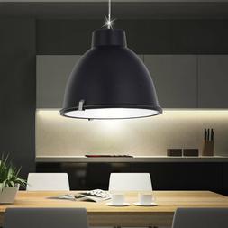 Suspension lustre luminaire plafond rétro noir mat verre sa