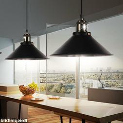 Suspension lustre métal noir luminaire plafond salle à man