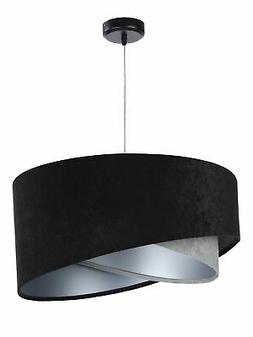 Suspensions Tissu Noir Gris Argent Ø50cm Mode Design Lumina