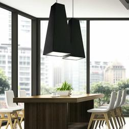 Suspensions Tissu Noir Suspension Luminaire de Plafond Salon