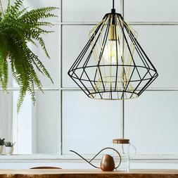 vintage led luminaire suspendu industriel cage la