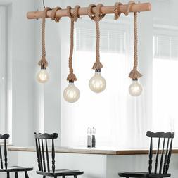 Rétro Lumière de Plafond Vintage Suspendu Rosée Luminaire