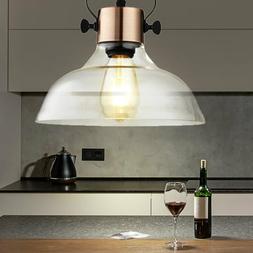 Vintage Luminaire Suspendu Verre Transparent Couvrir Spot la