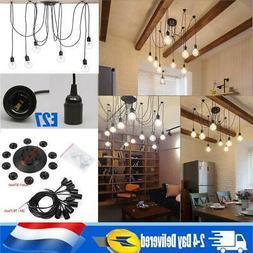 Vintage multiple ajustable Plafonnier Lampe Spider luminaire