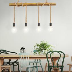 Vintage Suspendu Couvrir Lampe Bambou Ess Chambre Bois Bâto