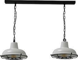 Vintage Suspensions Blanc Lampe Industriel Luminaire de Cuis